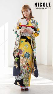 藤田ニコル-振袖×黄色|藤田ニコル にこるん着用振袖ご紹介