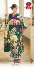 加藤ナナ×振袖-緑|加藤ナナ着用の振袖をご紹介