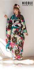 藤田ニコル×振袖-緑|藤田ニコル(にこるん)着用の振袖をご紹介