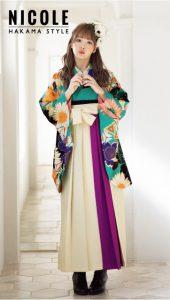藤田ニコル×卒業袴-緑|藤田ニコル(にこるん)着用の袴をご紹介