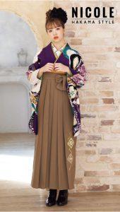 藤田ニコル×卒業袴-紫|藤田ニコル(にこるん)着用の袴をご紹介