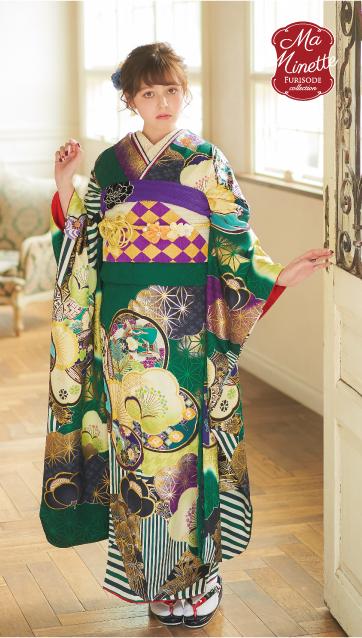 加藤ナナ-振袖×緑|新作振袖ご紹介 成人式