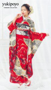 ゆきぽよ×振袖-赤|ゆきぽよ振袖コレクションのご紹介