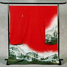 0-1 長野県代表 「アルプスの山脈」(赤) 振袖