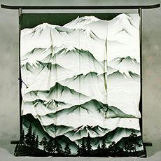 0-2 長野県代表 「アルプスの山脈」(白) 振袖
