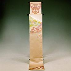 113 下條村 「秋桜と龍嶽寺」 袋帯