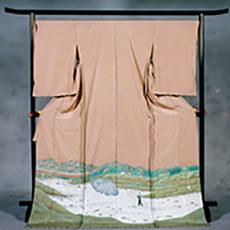 37 浅科村 「千曲川の投げ網」 色留袖