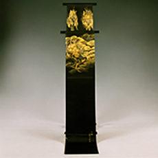 61 本城村 「花顔寺の天井絵」 袋帯