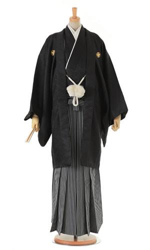 男性黒紋付袴[ポリエステル]
